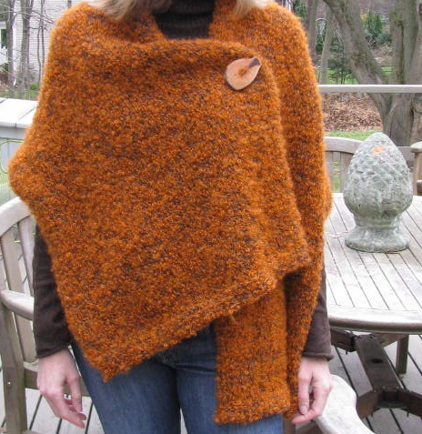 Easy 3 button shawl knitting pattern KnitnScribble