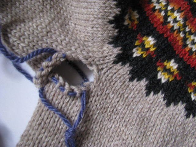 Fair Isle finish | Knitnscribble.net