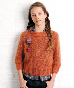 Free Knitting Patterns For Teenage Sweaters : Easy teen sweater for girls or boys Knitnscribble.net
